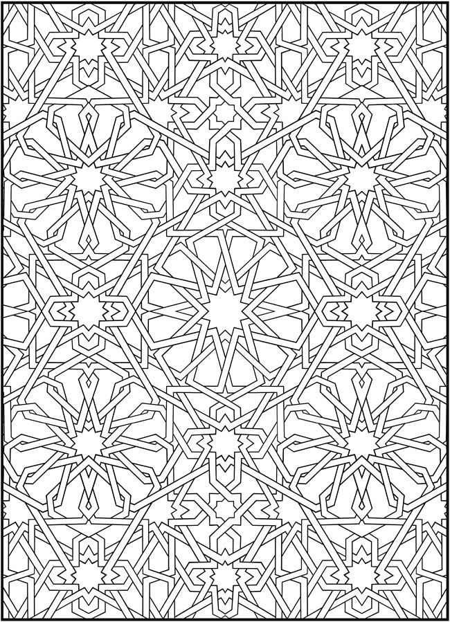 mosaic coloring pages - Free Mosaic Coloring Pages