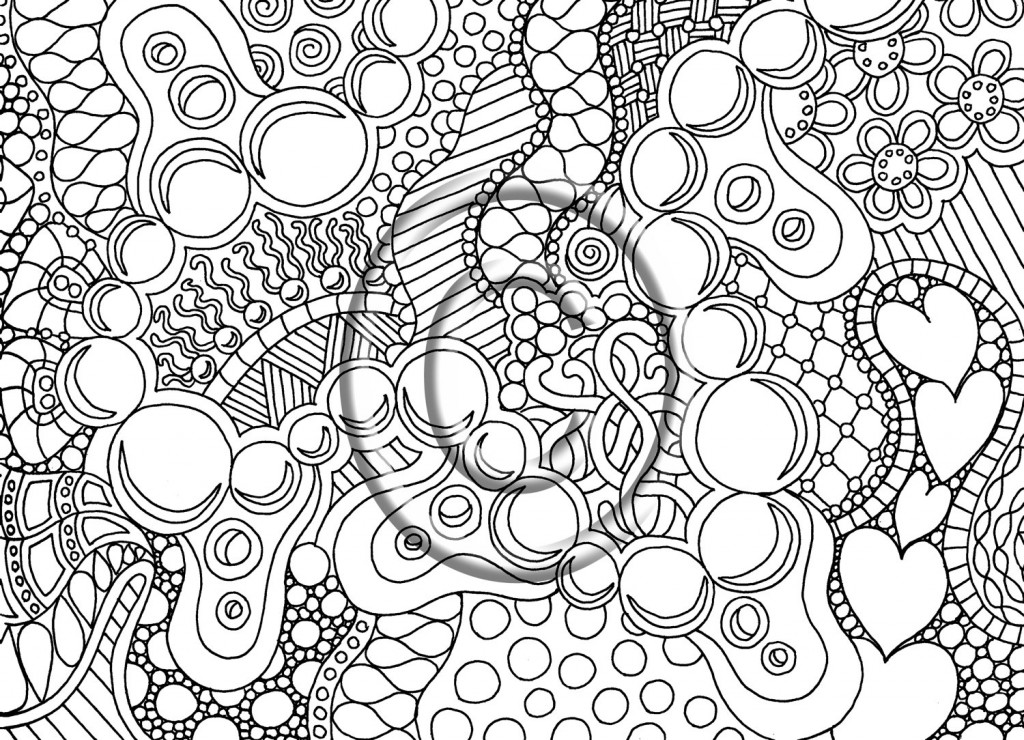 intricate coloring pages for adults - Intricate Coloring Pages Print