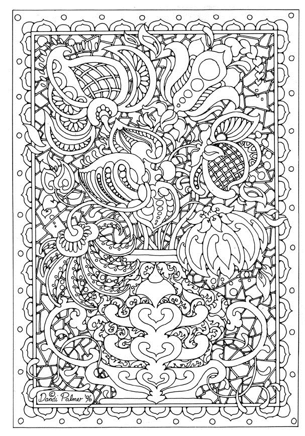 difficult coloring pages for adults - Difficult Coloring Pages