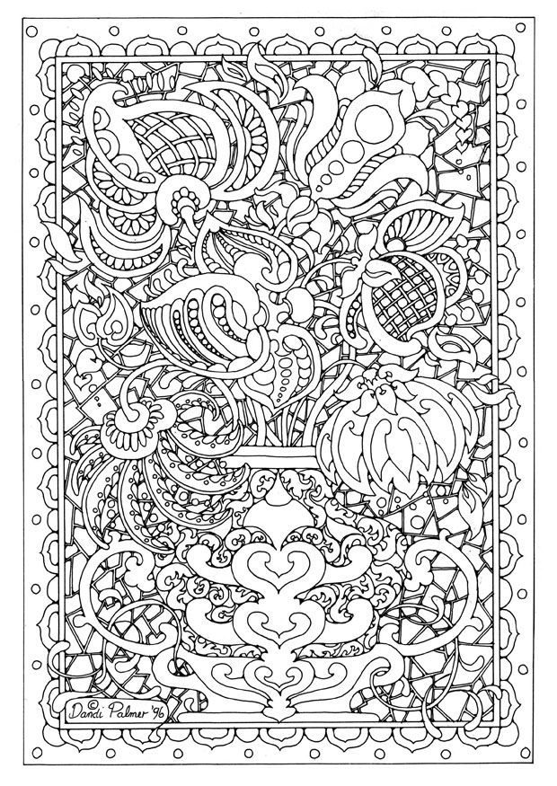 detailed coloring pages - Detailed Coloring Books