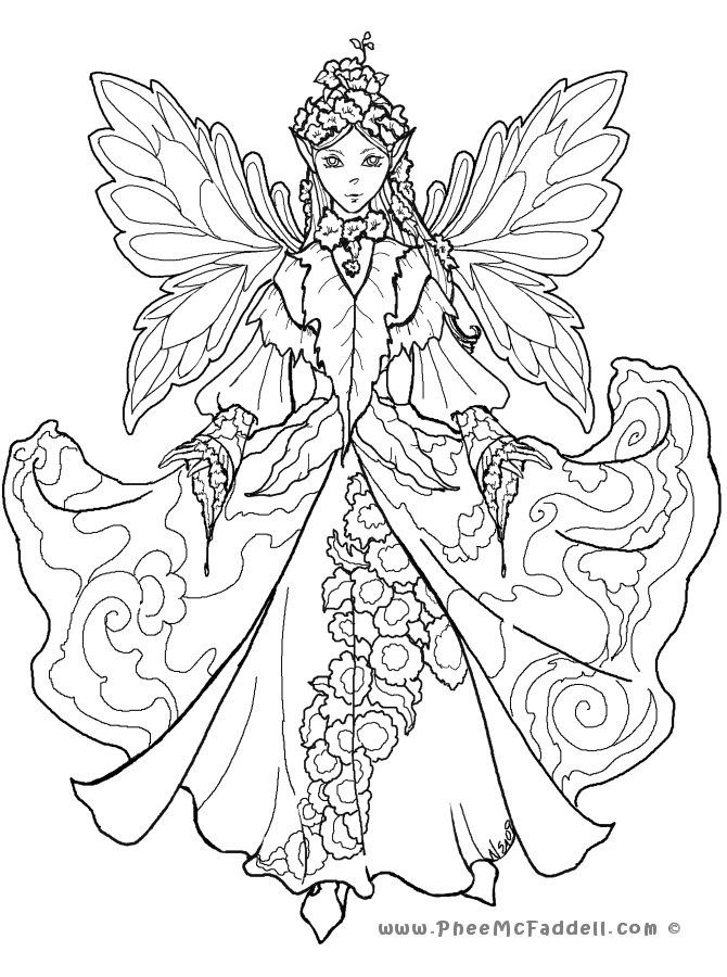 coloring pages fairy - Selo.l-ink.co