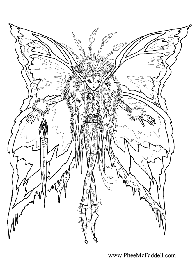fairy coloring pages for adults - Fairy Coloring Pages