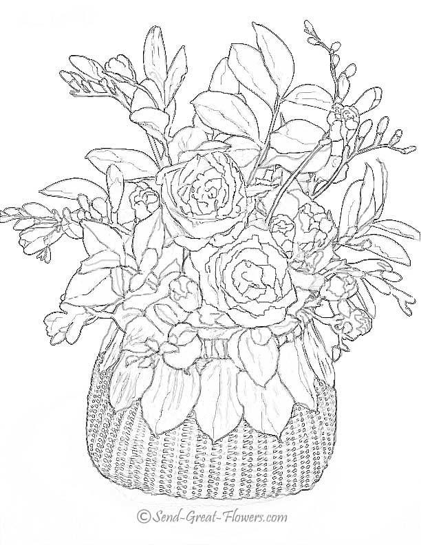 adult coloring pages flowers - Spring Coloring Pages For Adults