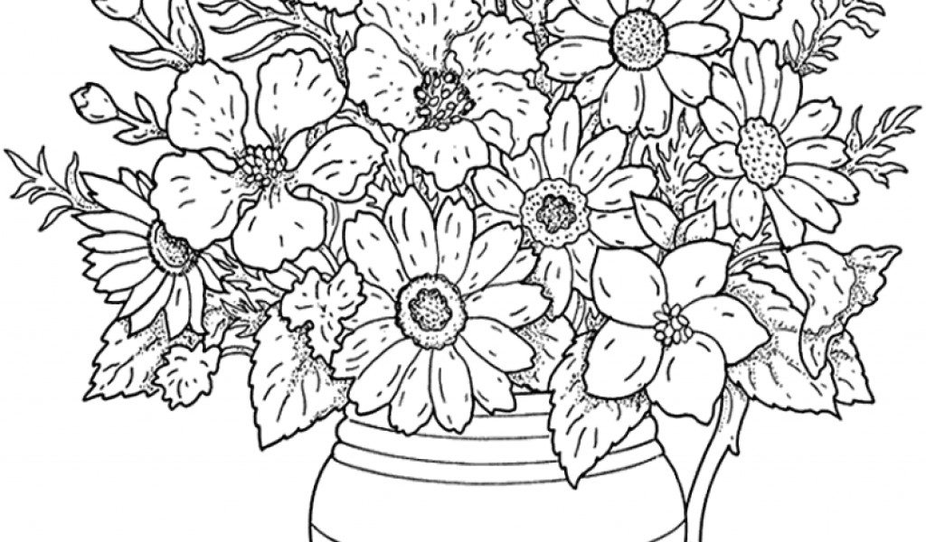 Adult Coloring Pages Flowers Coloring Pages Flowers