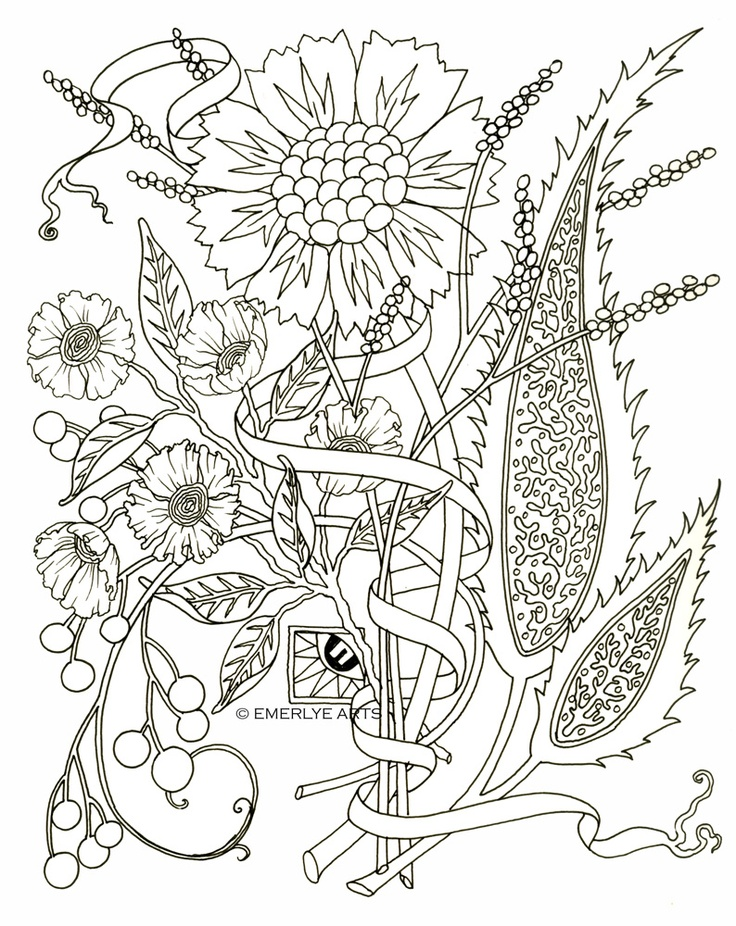 adult coloring pages flowers - Print Out Coloring Pages