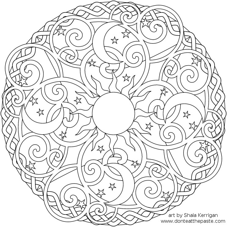 mandala coloring pages - Detailed Coloring Pages