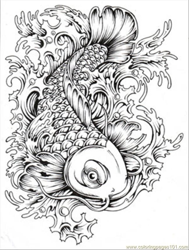 Fish Coloring Pages For Adults Fish Coloring Pages
