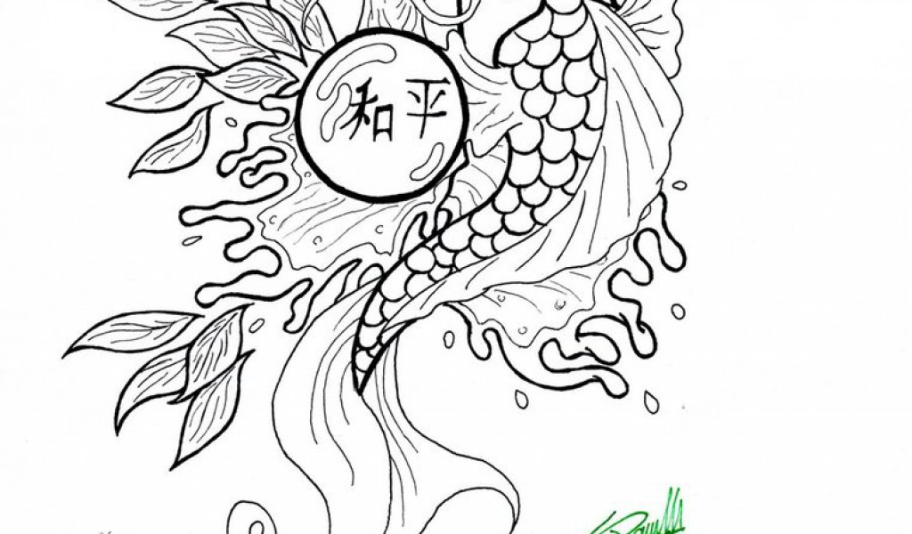 koi fish coloring pages - Fish Coloring Pages For Adults
