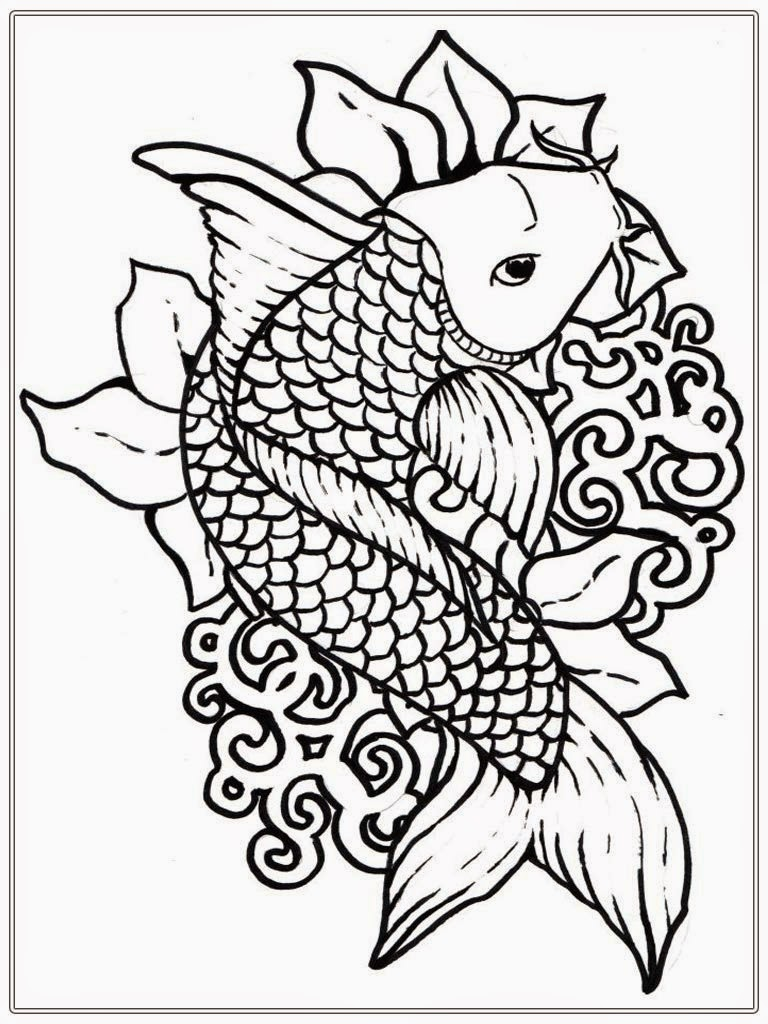 Fish Coloring Pages Coloring Pages For Adults