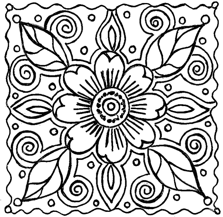 Merveilleux Abstract Coloring Pages