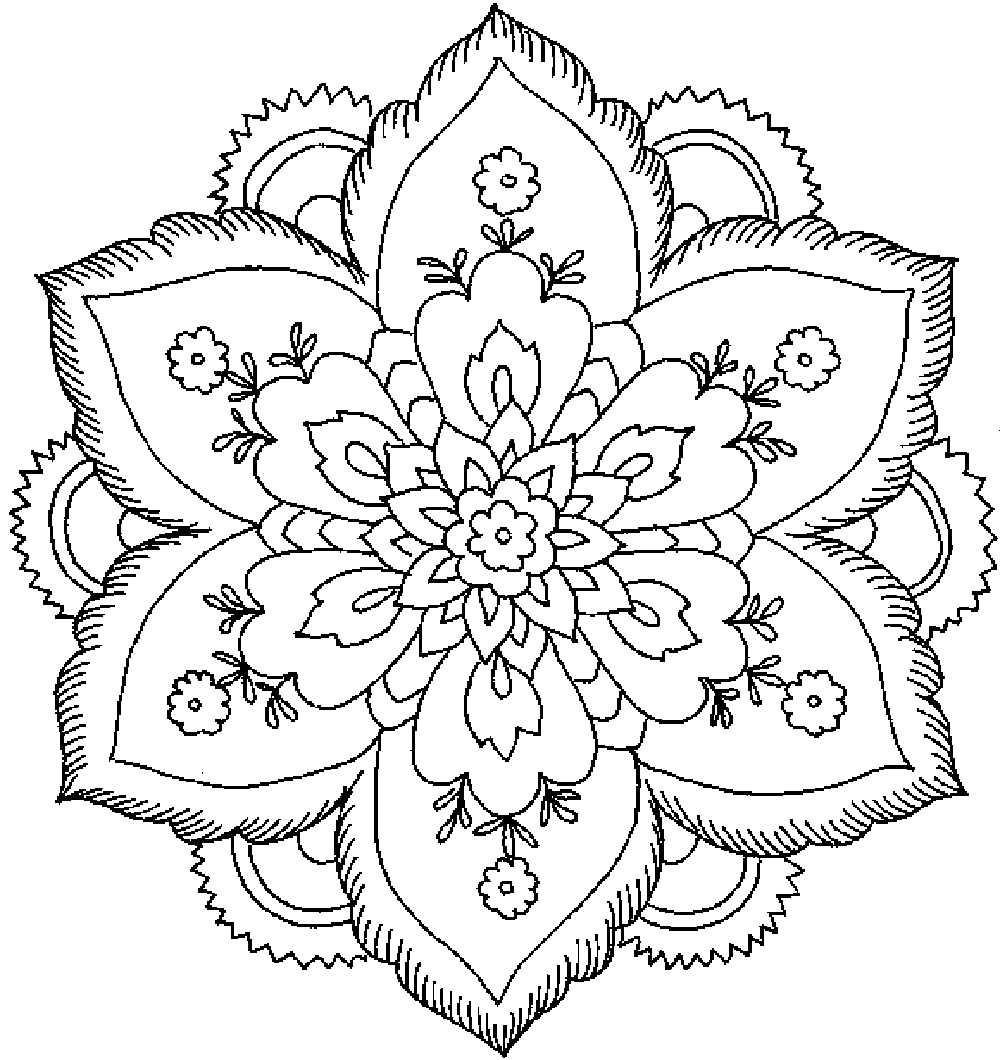 Adult Coloring Pages Flowers Flower Coloring Pages