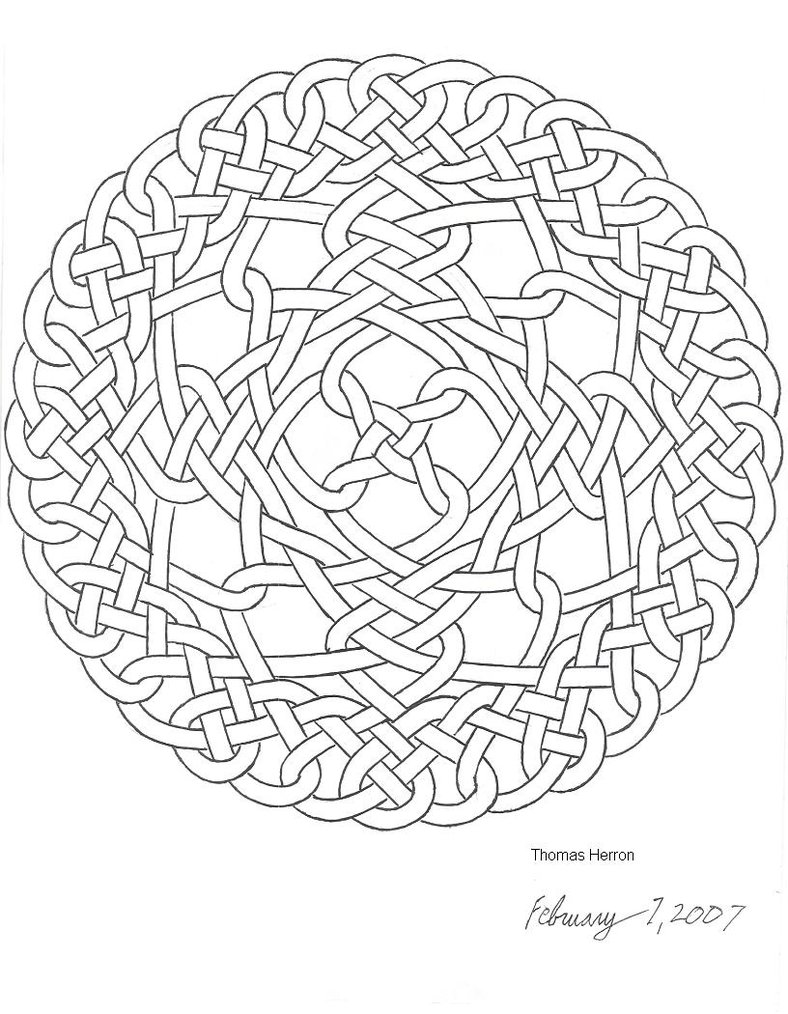 Celtic knot coloring pages for Celtic coloring page