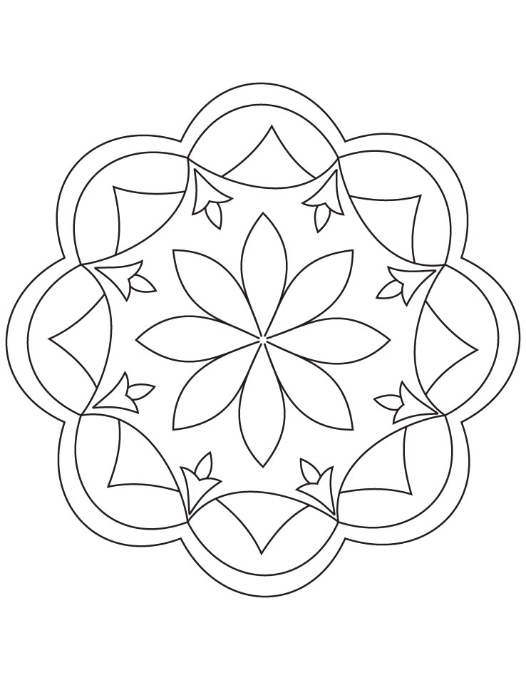 Rangoli Coloring Pages For Adults : Rangoli coloring pages