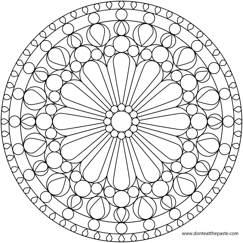 Charmant Geometric Design Coloring Pages