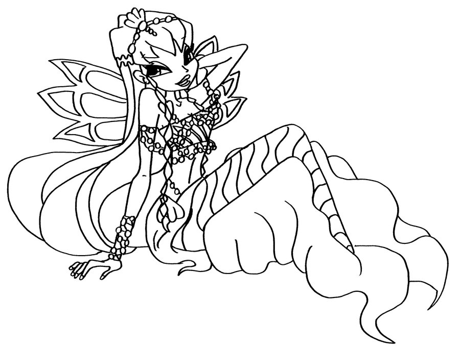 Winx Mermaid coloring pages