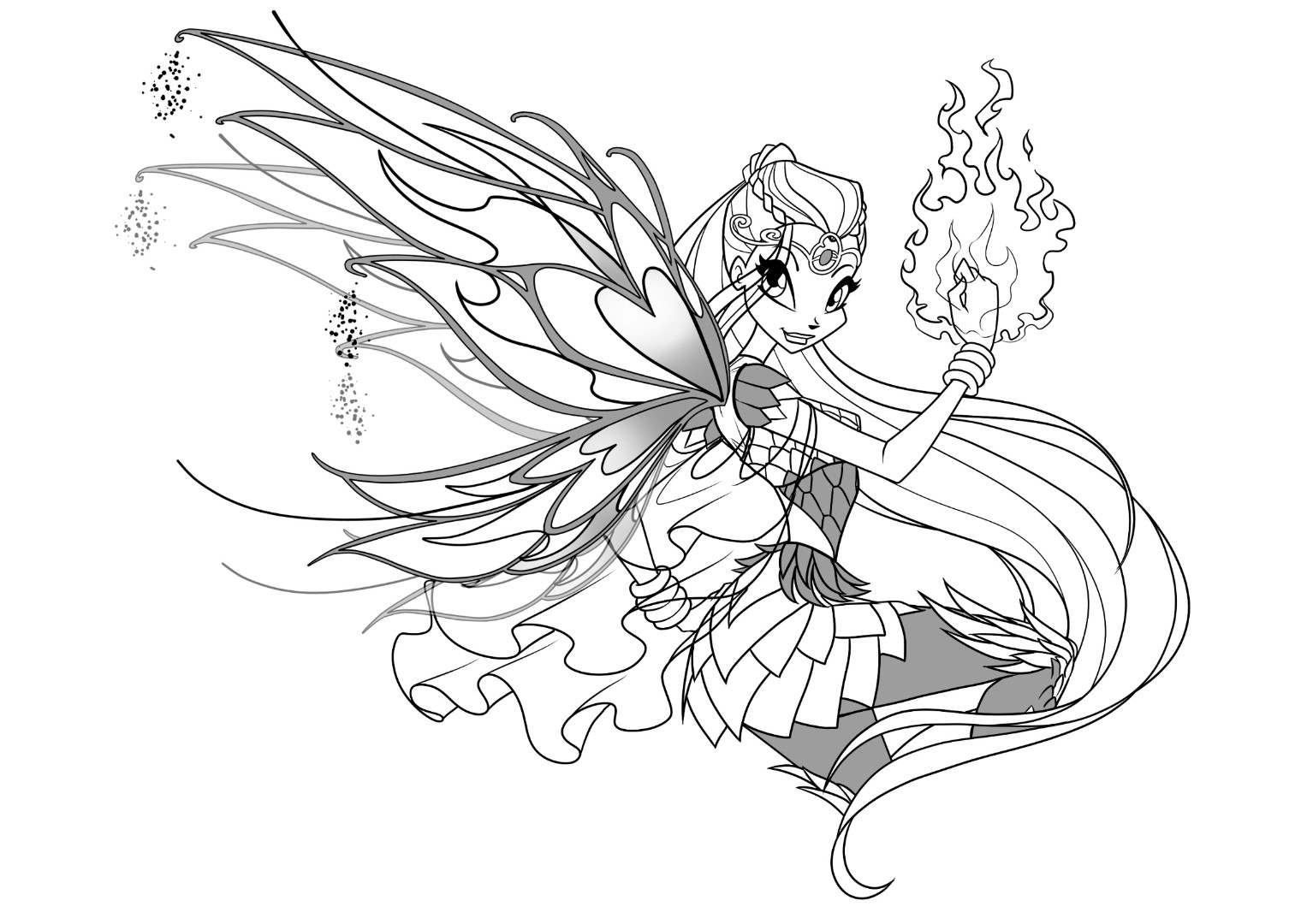 Winx Club Bloomix coloring pages