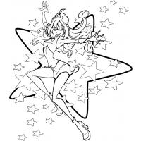 Winx Bloom coloring pages