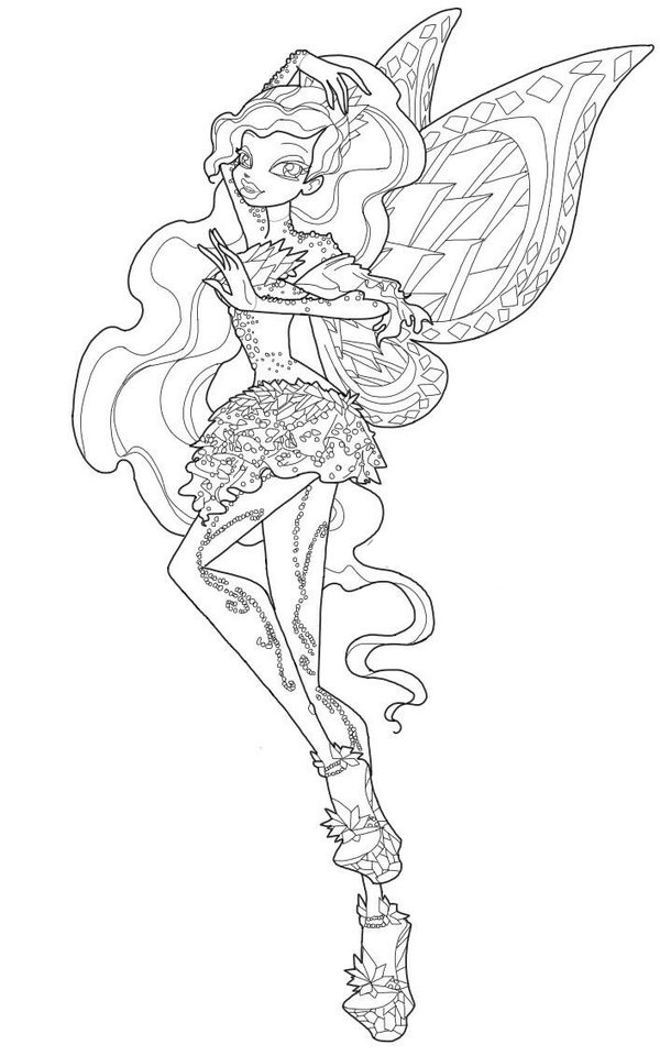 winx club tynix coloring pages - photo#16