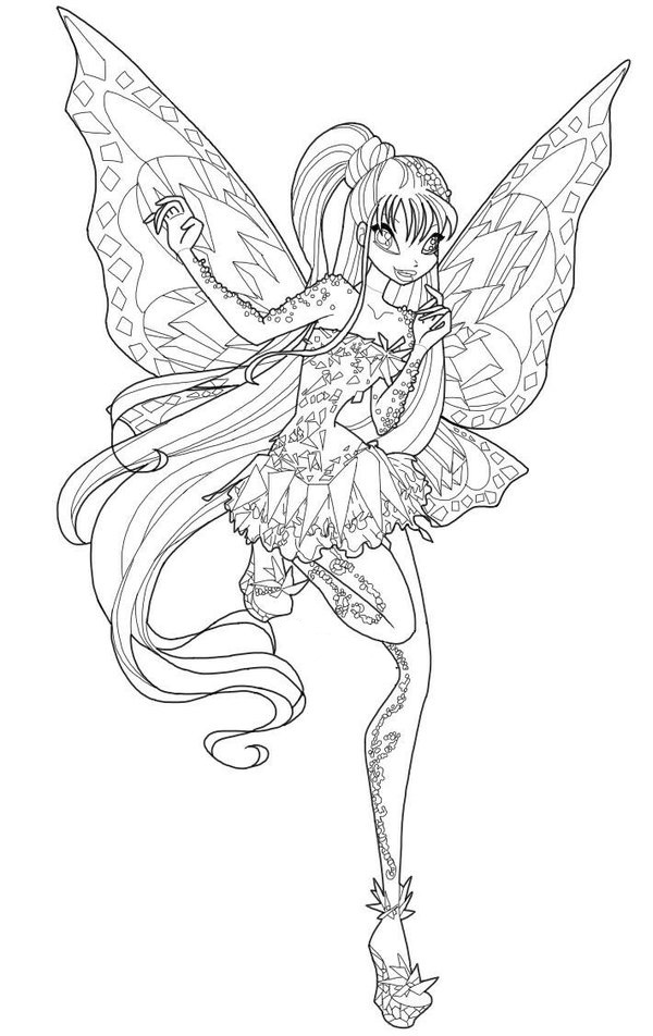winx club tynix coloring pages - photo#3