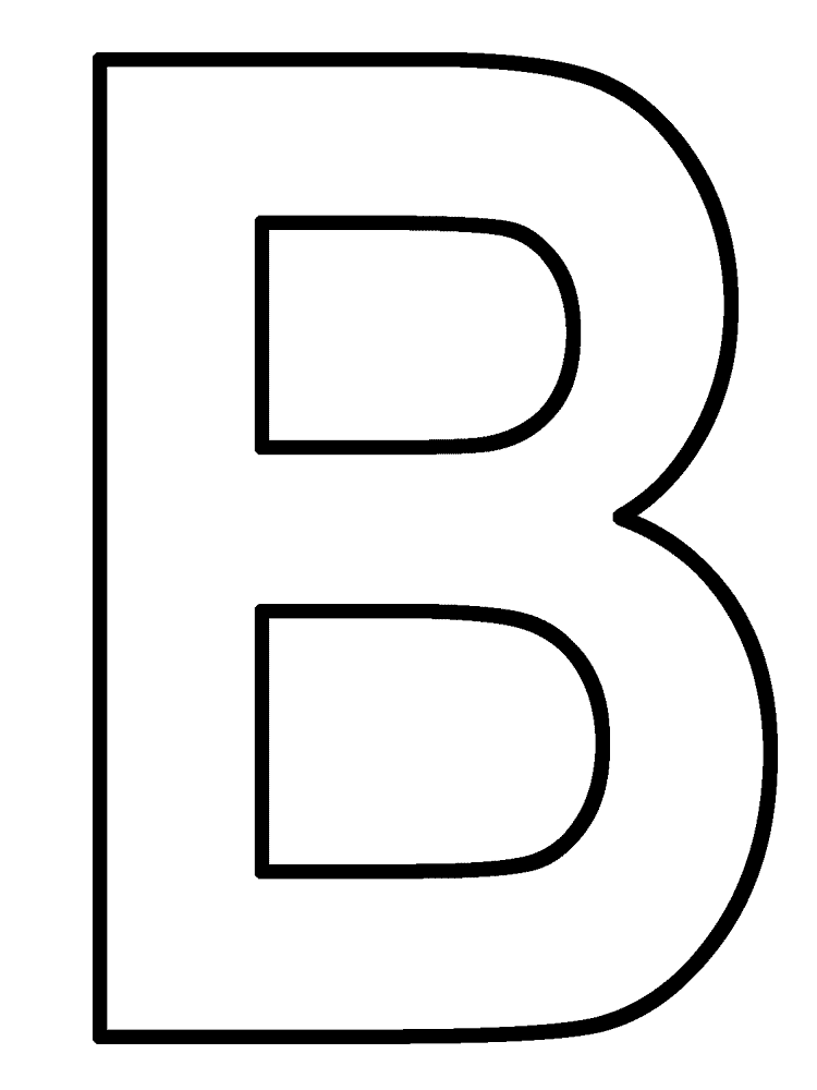 letter b coloring pages - Letter A Coloring Pages Printable