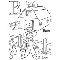 Letter b coloring pages