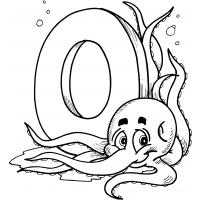 Letter o coloring pages