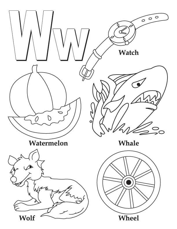 Letter W Coloring Pages