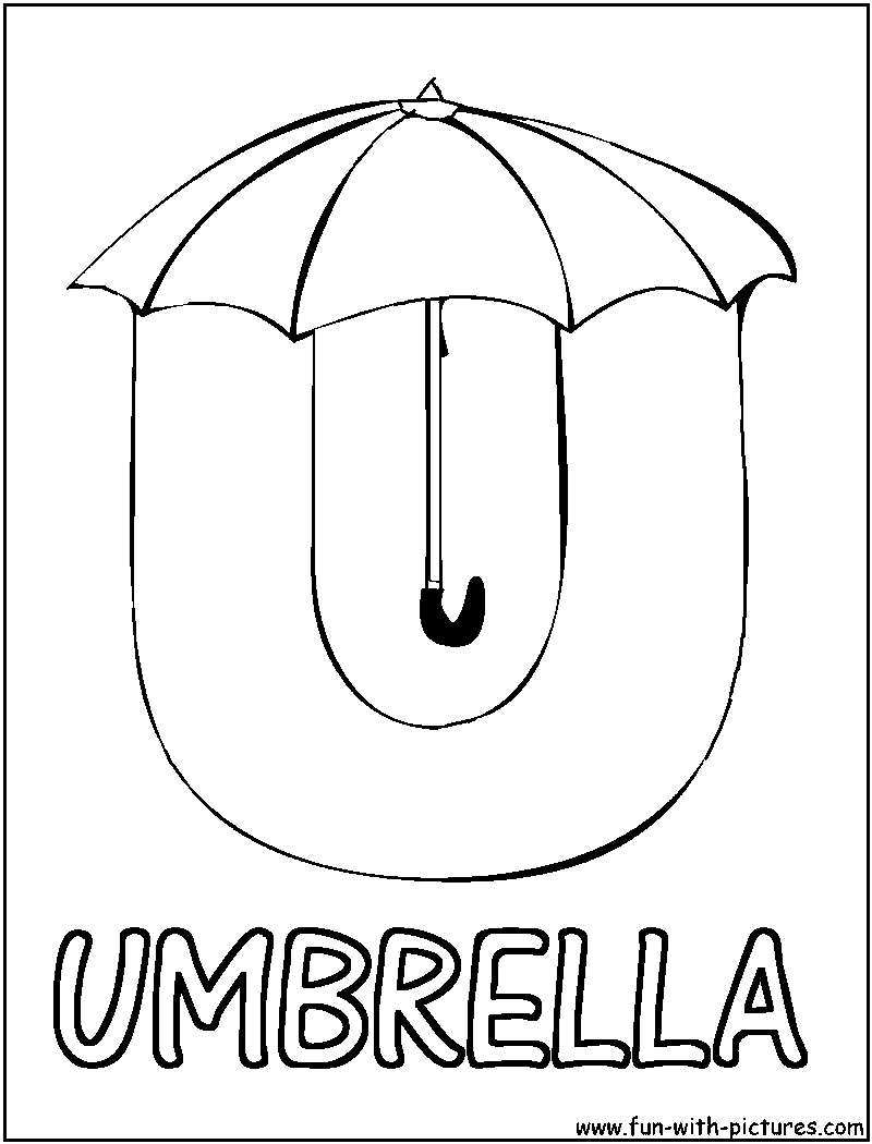 u coloring pages