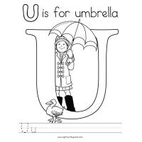 Letter u coloring pages