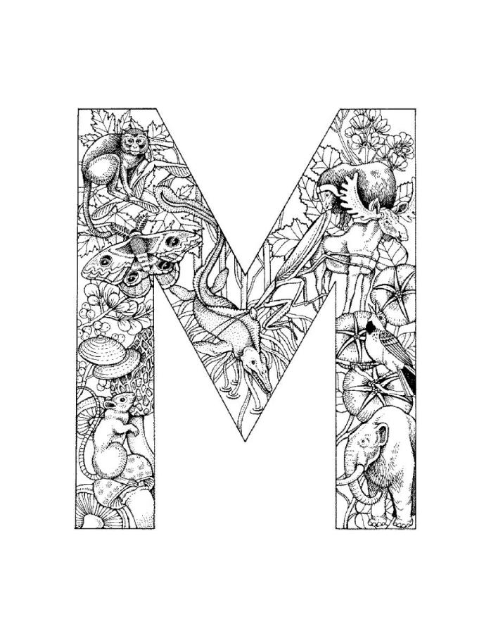 letter m coloring pages - Letter Coloring Pages