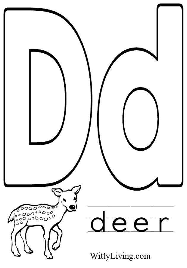 the letter d coloring pages - photo#16