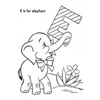 Letter e coloring page