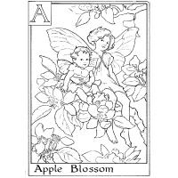 Fairy alphabet coloring pages