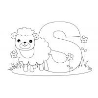 Letter S coloring pages