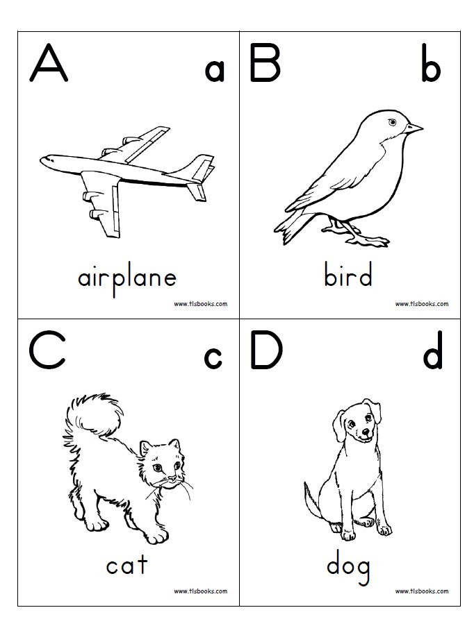 Pre K Coloring Pages Alphabet. Alphabet flash cards coloring pages