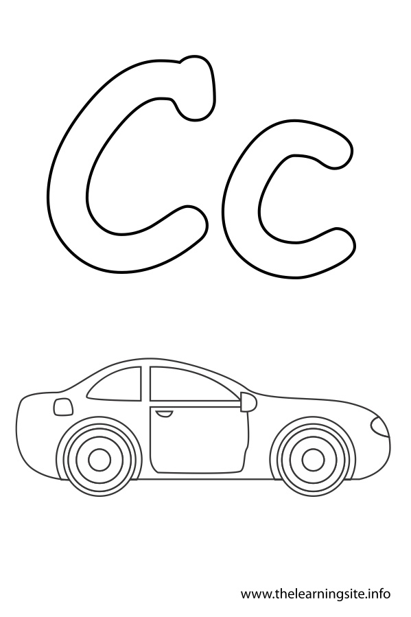 Alphabet Flash Cards Coloring Pages