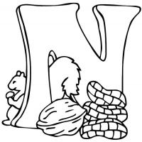 Letter n coloring pages