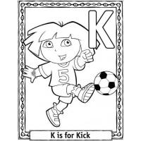 Letter K coloring pages