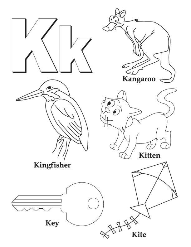 Pre K Coloring Pages Alphabet. Letter K coloring pages