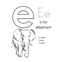 Lowercase e coloring pages