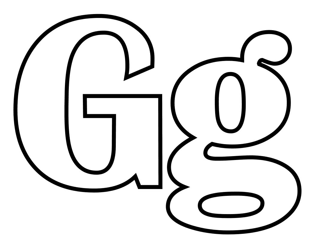 Coloring pages for letter g - Letter G Coloring Pages