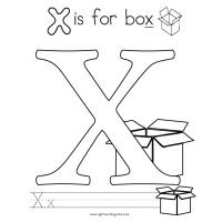 Letter x coloring pages