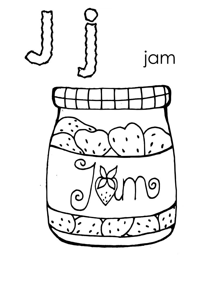 Letter J Coloring Pages