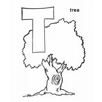Letter T coloring pages
