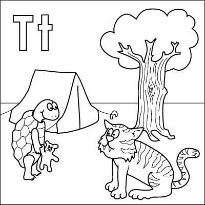 T coloring pages