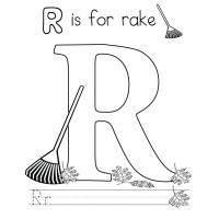 Letter R coloring pages