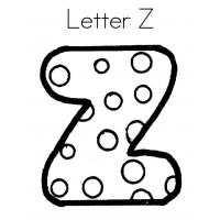 Letter z coloring pages