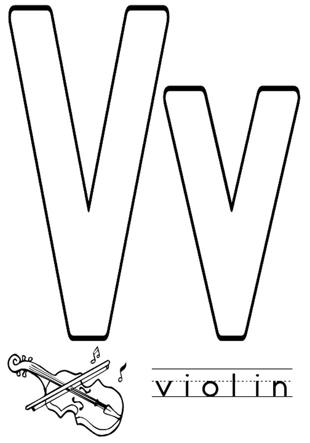V coloring pages