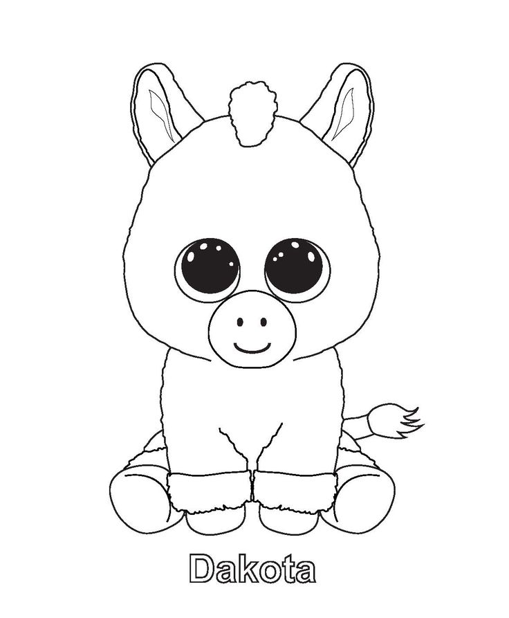 Printable ty beanie boo coloring pages for preschoolers ae52a79b8075