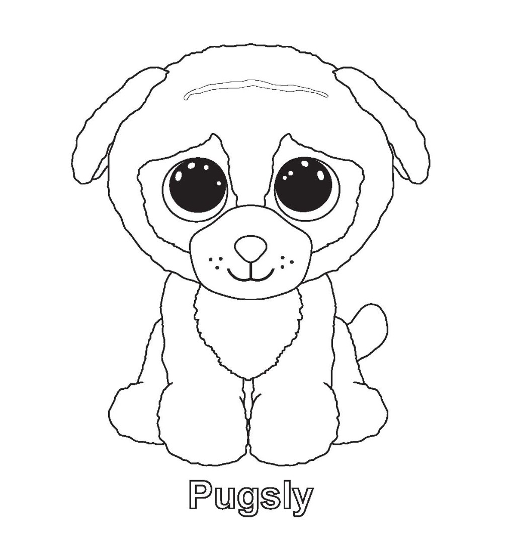 Printable ty beanie boo coloring pages for preschoolers